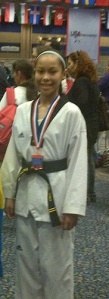 Isi Oro at the U.S. Open tae kwon do championship at the Las Vegas Hotel &  Casino.