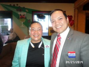 Las Vegas Fil-Am candidates Cheryl Moss and Ron Quilang (Photo provided by Cheryl Moss)