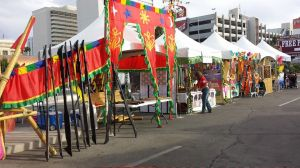 The Kalahi Folkloric Ensemble booth at the Pinoy Pride fest in Downtown Las Vegas