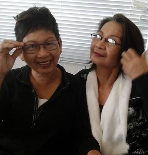 Nieva Cenera (left) and Elsa Casillano