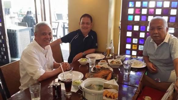 Sportswriters Reggie Amigo, Chito Manuel and Joe Antonio.