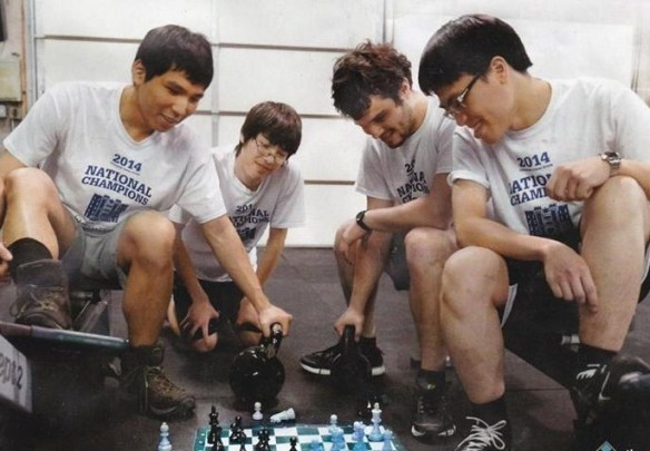 Webster University chess team with Wesley So. (Lenny So Facebook page)