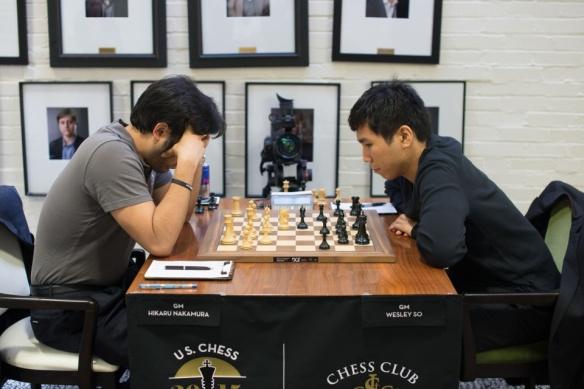 Grandmasters Hikaru Nakamura and Wesley So.
