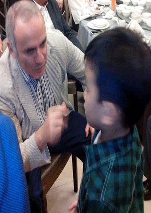 Alekhine Nouri with former world champion Garry Kasparov