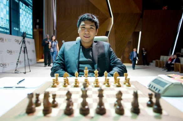 Grandmaster Wesley So has two wins and a draw in four rounds of the Gashimov Memorial chess tournament in Azerbaijan. PHOTO BY SHAMKIR CHESS 2015.