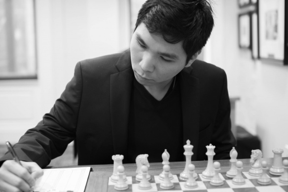 Wesley So in the seventh round of the US Chess Championships