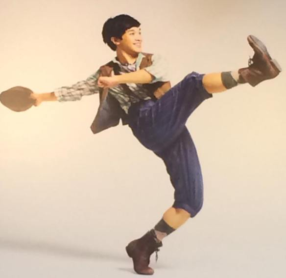 Julian DeGuzman as Finch in disney musical Newsies PHOTO BY NEWSIES
