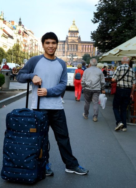 Wesley So arriving in Prague. Official website