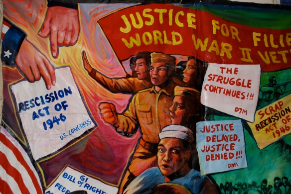 Poster for Filipino World War II veterans