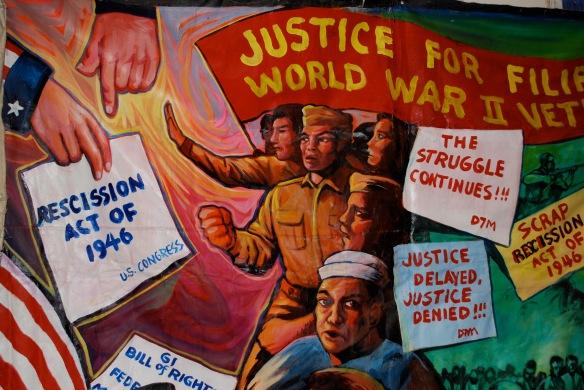 Poster for Filipino World War II veterans